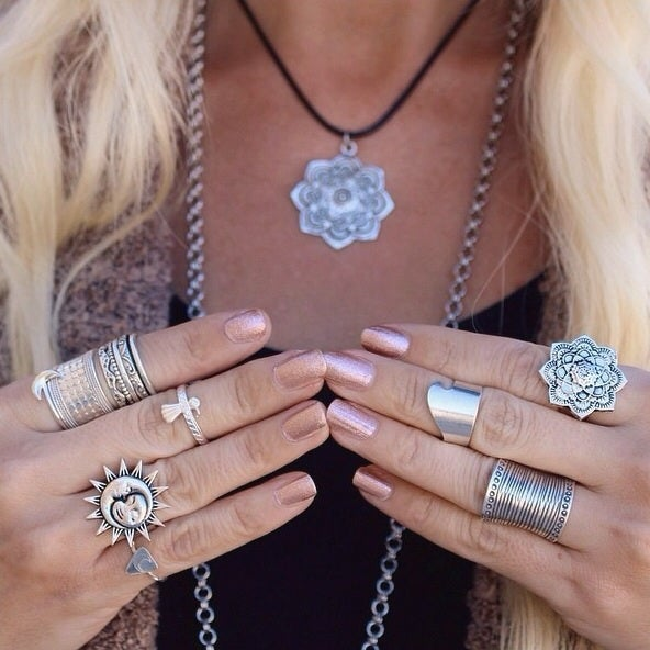 Image of Silver mandala ring