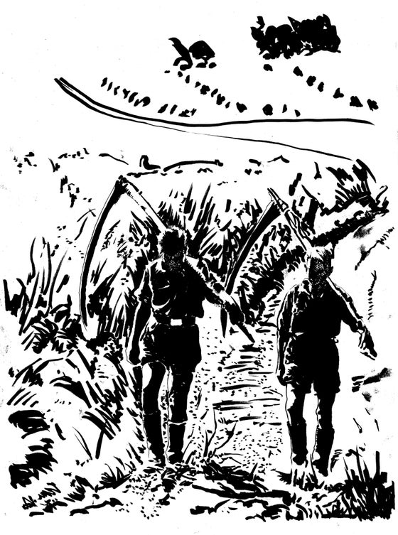 Image of PESTE NOIRE - LE RETOUR DE LA PESTE - Original  drawing