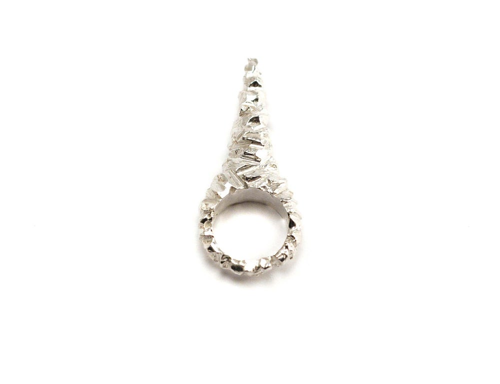 Image of stone age unicorn spike ring