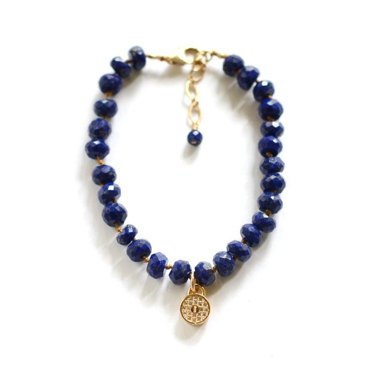 Image of Lapis lazuli padlock bracelet