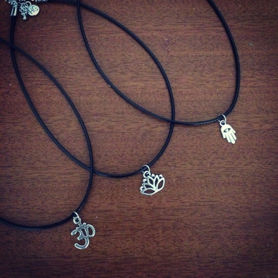 Image of Mini om, lotus & hamsa chokers
