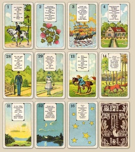 Image of Stralsunder Lenormand, with Verses c. 1900