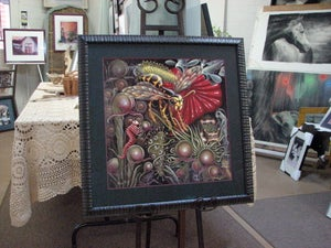 "Image of ""FLORA vs FAUNA""   ~ 18 x 18"" Open Signed Edition"