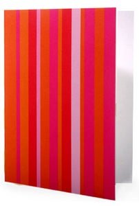 Image of 6 Pack Noteset in Pink Stripe