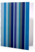 Image of 6 pack Noteset in Ocean Blue Stripe