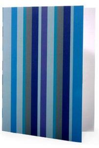 Image of 6 pack Noteset in Ocean Blue Stripe