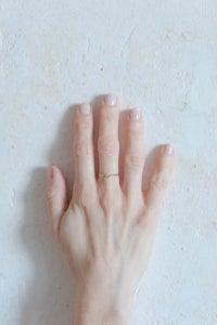Image of Bague noeud fin en argent plaqué or jaune taille 53