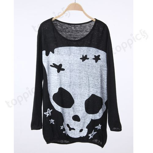 Image of Long Sleeve Skull Top
