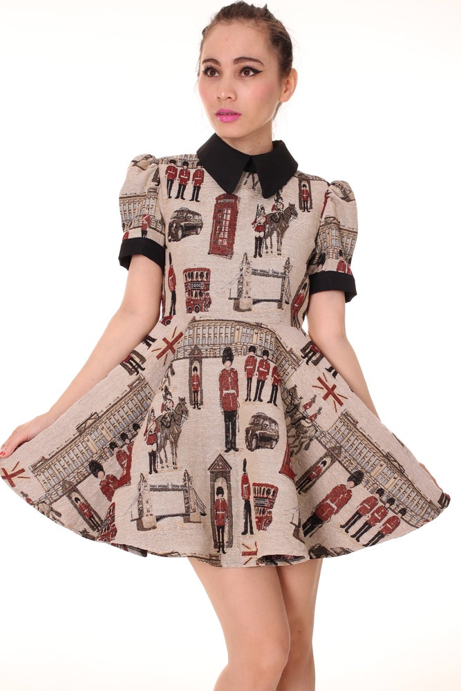 Image of Miss London Tapestry Dress