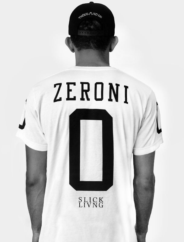 Image of SOLD OUT | EXCLUSIVE RELEASE | ZERO WHITE JERSEY TEE