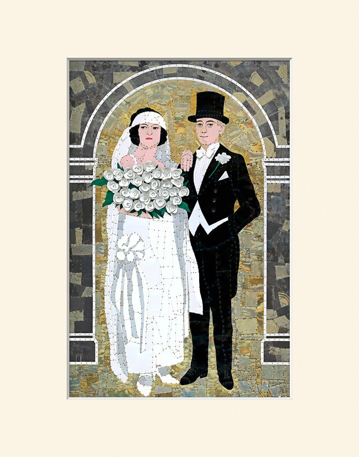 "Image of Bride and Groom - 11"" x 14"" Matted Print"