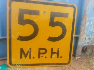 Image of Small Speed Limit Sign