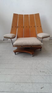 Image of g plan swivel arm chair