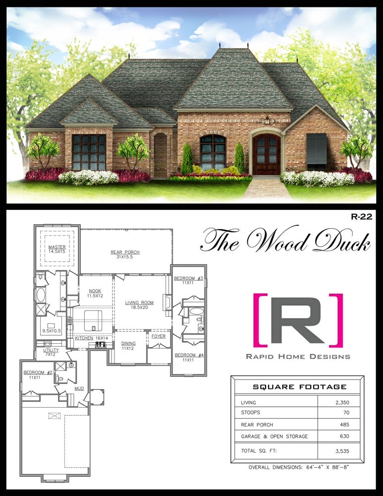 The wood duck 2350sf rapid home designs for Rapid home designs