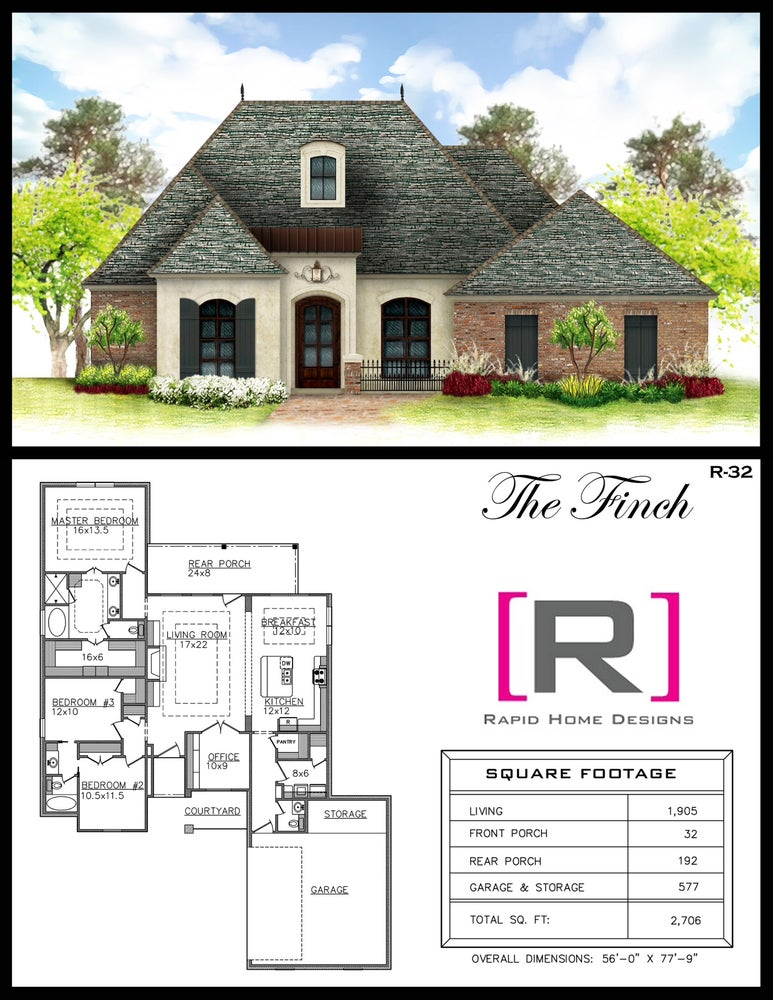 The finch 1905sf rapid home designs for Rapid home designs
