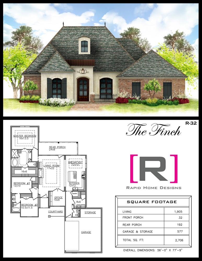 The Finch 1905sf Rapid Home Designs
