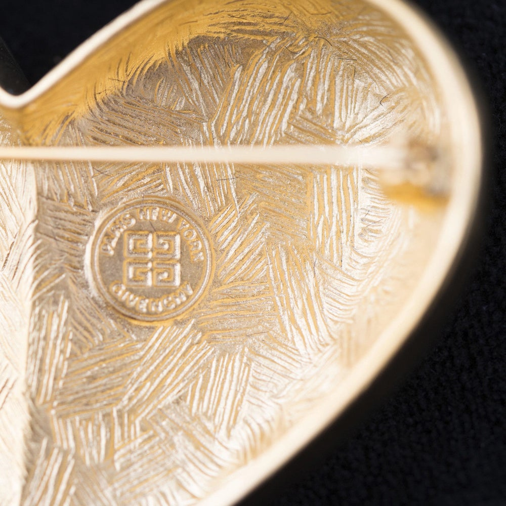 Image of Givenchy Bijoux Massive 1980's Heart Pin Brooch