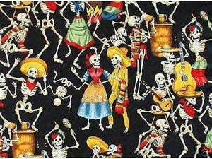 Image of FF Day of the Dead Fabric Posada COTTON FABRIC QUILT FABRIC