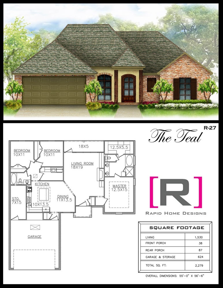 The teal 1530sf rapid home designs for Rapid home designs