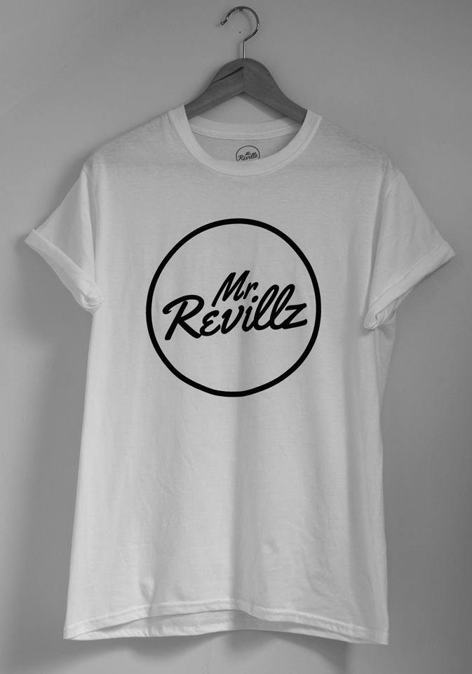 Image of White MrRevillz Logo T-Shirt