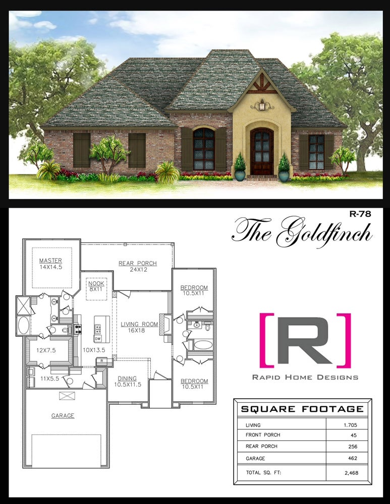 The goldfinch 1705sf rapid home designs for Design house products