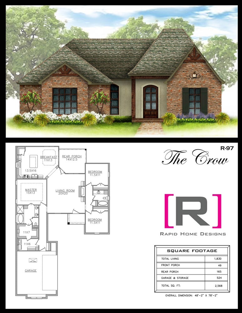 The crow 1830sf rapid home designs for Rapid home designs