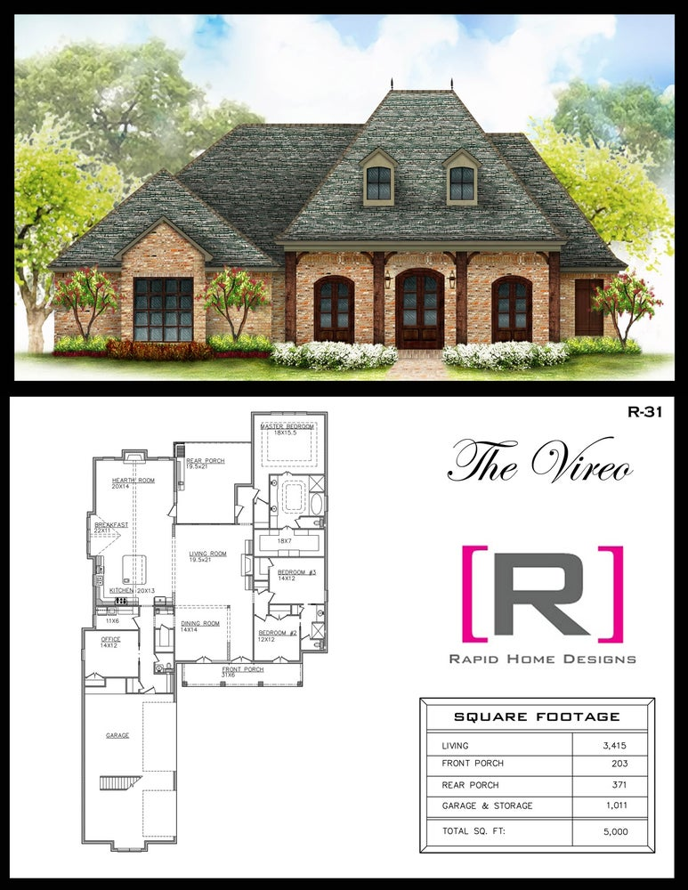 The vireo 3415sf rapid home designs for Rapid home designs