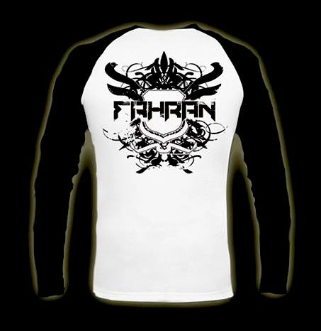 Image of FAHRAN 'CHASING HOURS' - BASEBALL STYLE LONG SLEEVE T-SHIRT