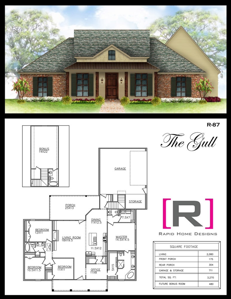 The gull 2080sf rapid home designs for Rapid home designs