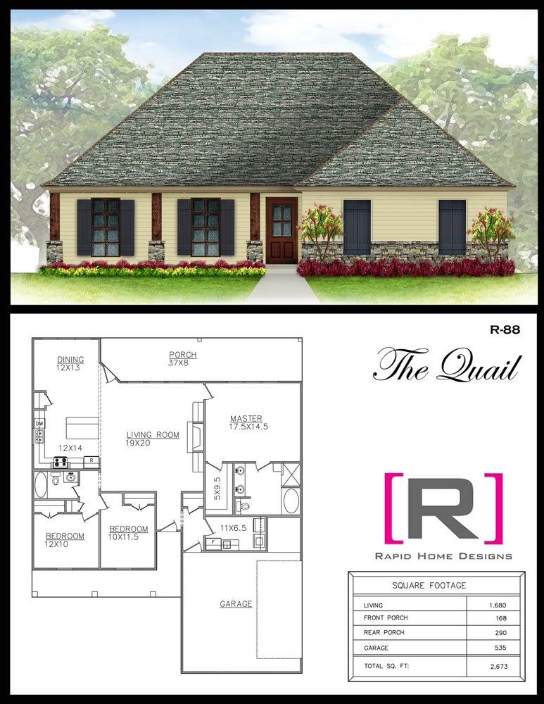 The Quail 1680sf Rapid Home Designs