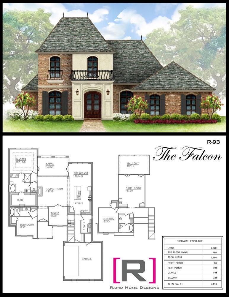 The Falcon 2880sf Rapid Home Designs