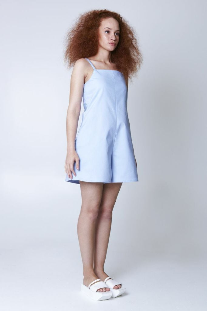 Image of Planet Playsuit - Baby blue