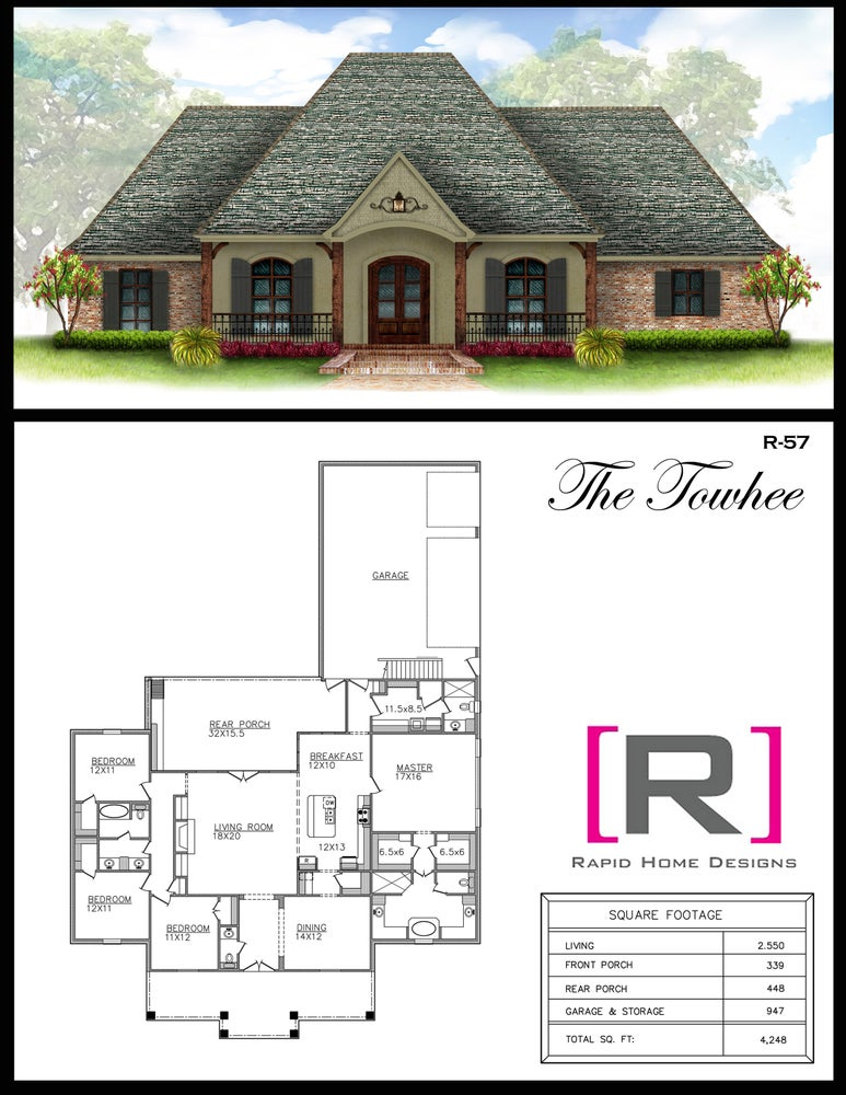 The towhee 2550sf rapid home designs for Rapid home designs