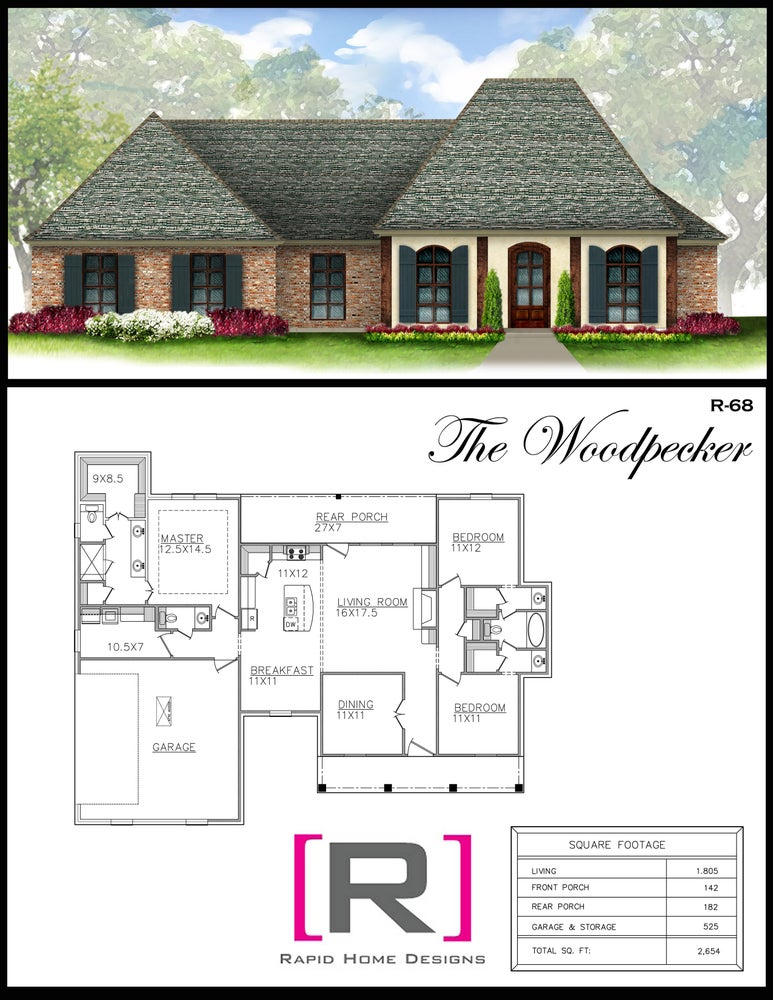 The woodpecker 1805sf rapid home designs for Rapid home designs