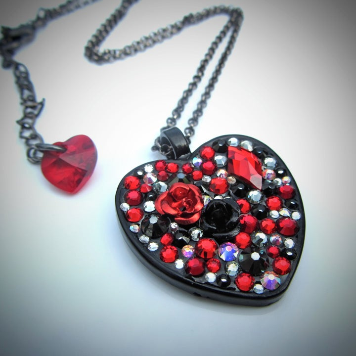 Image of Queen of Hearts Red Heart Pendant