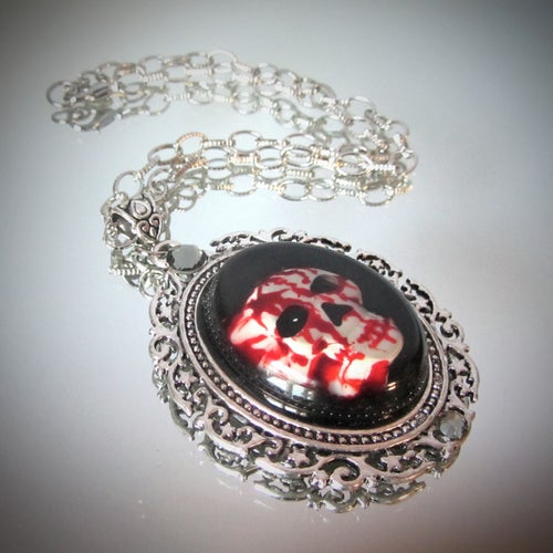 Image of Bloody Skull Pendant