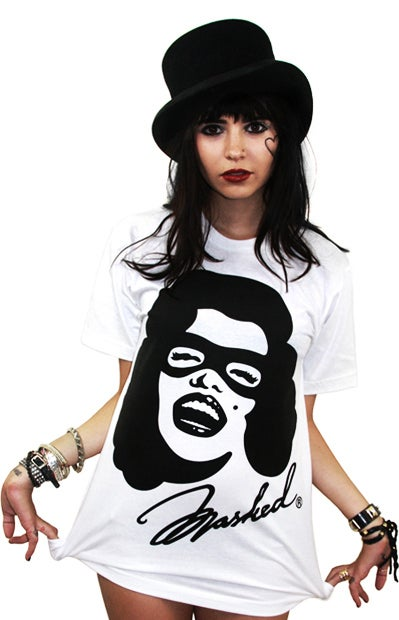 Image of Marilyn Masked (White) (Womens)