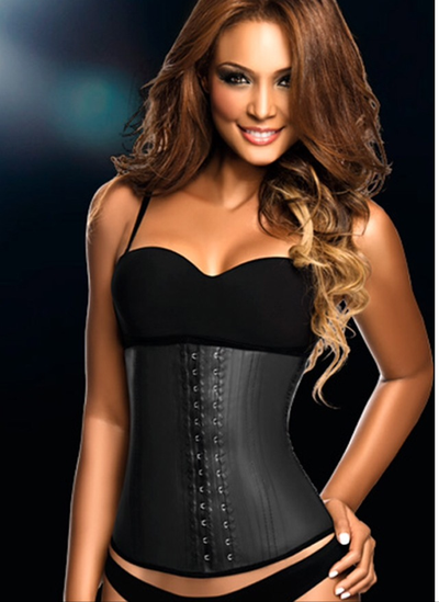 Image of Long Black Aggressive 2 Row Waist Shaper