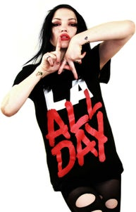 Image of LA All Day (Black) (Womens)
