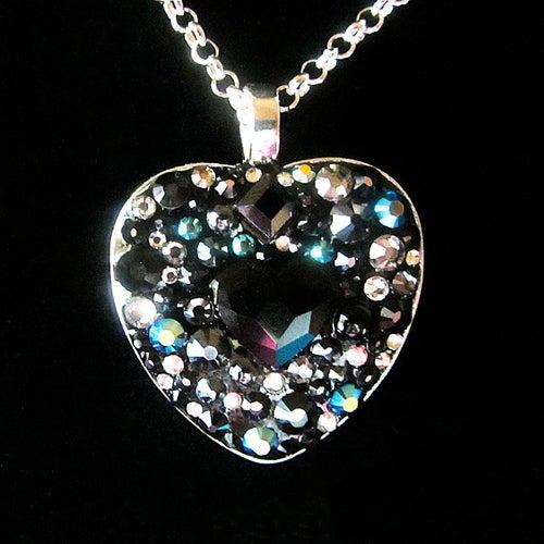Image of Obsidian Rocks Black Heart Pendant