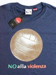Image of Big Ball No Alla Violenza Navy T