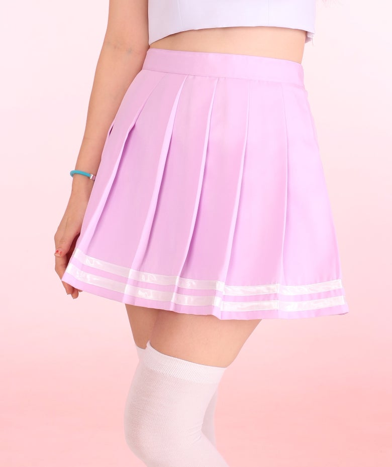 Image of Pastel Purple Cheerleading Skirt