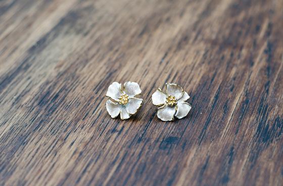 Image of Pendientes flores de antaño.