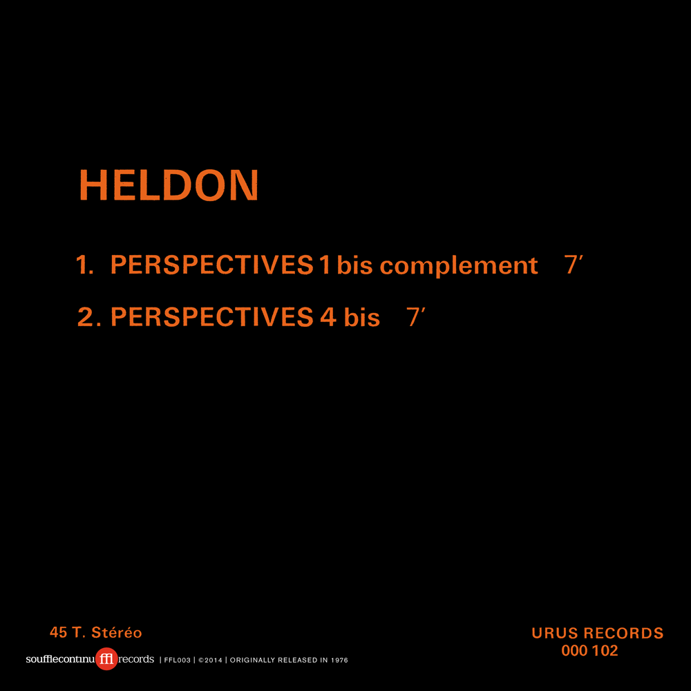 Image of HELDON - PERSPECTIVES (FFL003)