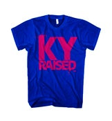 Image of KY Raised Female Tee in Royal Blue & Hot Pink