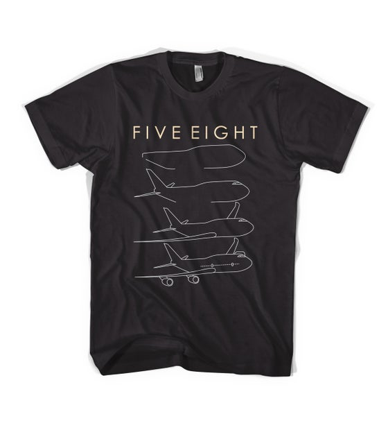 "Image of Five Eight - ""Aeroplane"" Tee - Black"