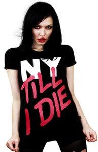 Image of NY Till I Die (Black) (Womens)