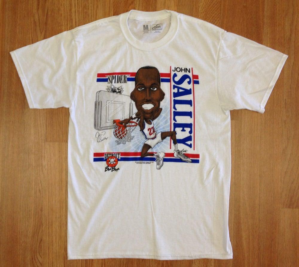 "Image of Detroit Bad Boys John ""Spider"" Salley Big Head Shirt"