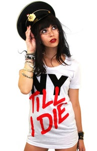 Image of NY Till I Die (White) (Womens)