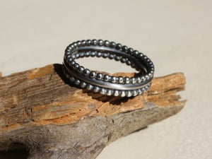 Image of Triple ring - sterling silver